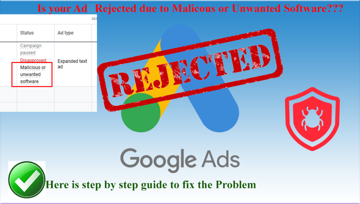 Fix Reject Google Ads Website
