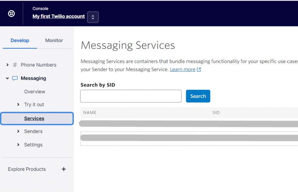 Twilio Messaging Services